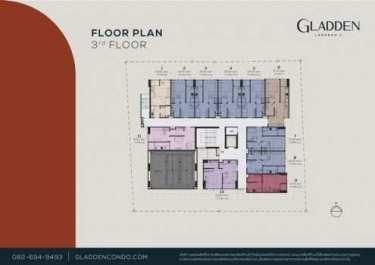 ขายคอนโดใหม่ Gladden แกลดเดิน คอนโด ลาดพร้าว 1 พร้อมเข้าอยู่กลางปี64 มีความส่วนตัวเพียง 74 unit