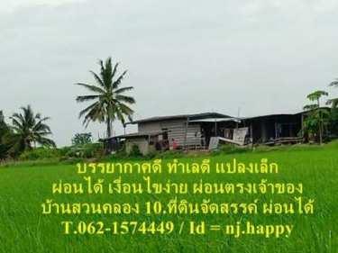 บ้านสวนคลอง 10 ที่ดินจัดสรรแปลงเล็กสดผ่อนได้ T.062-1574449