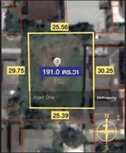 ขายที่ดินถมแล้ว 191 ตร.วา ถนนประเสริฐมนูกิจ 18 ซอย เสนานิคม 1 ซ.42 แยก 11
